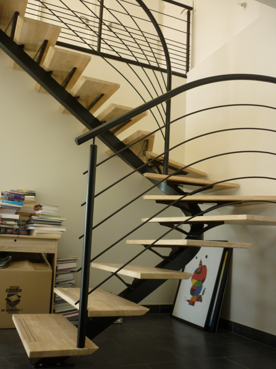 escalier interieur exterieur version m tal s rrurerie m tallerie plouguerneau. Black Bedroom Furniture Sets. Home Design Ideas